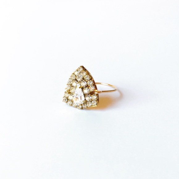 Sandy Hyun Jewelry - Designer Ring with Vintage Crystals One Size
